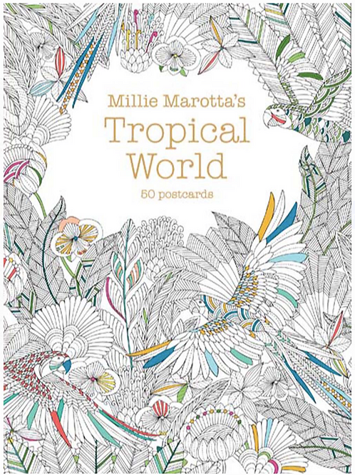 Tropical World Color-In Postcard Set