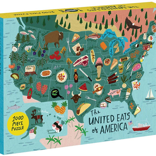 The United Eats of America 1000 Piece Puzzle