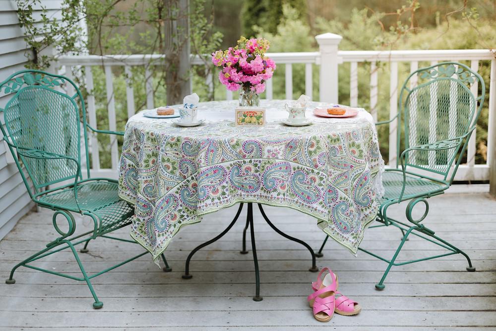 tea party porch outdoor