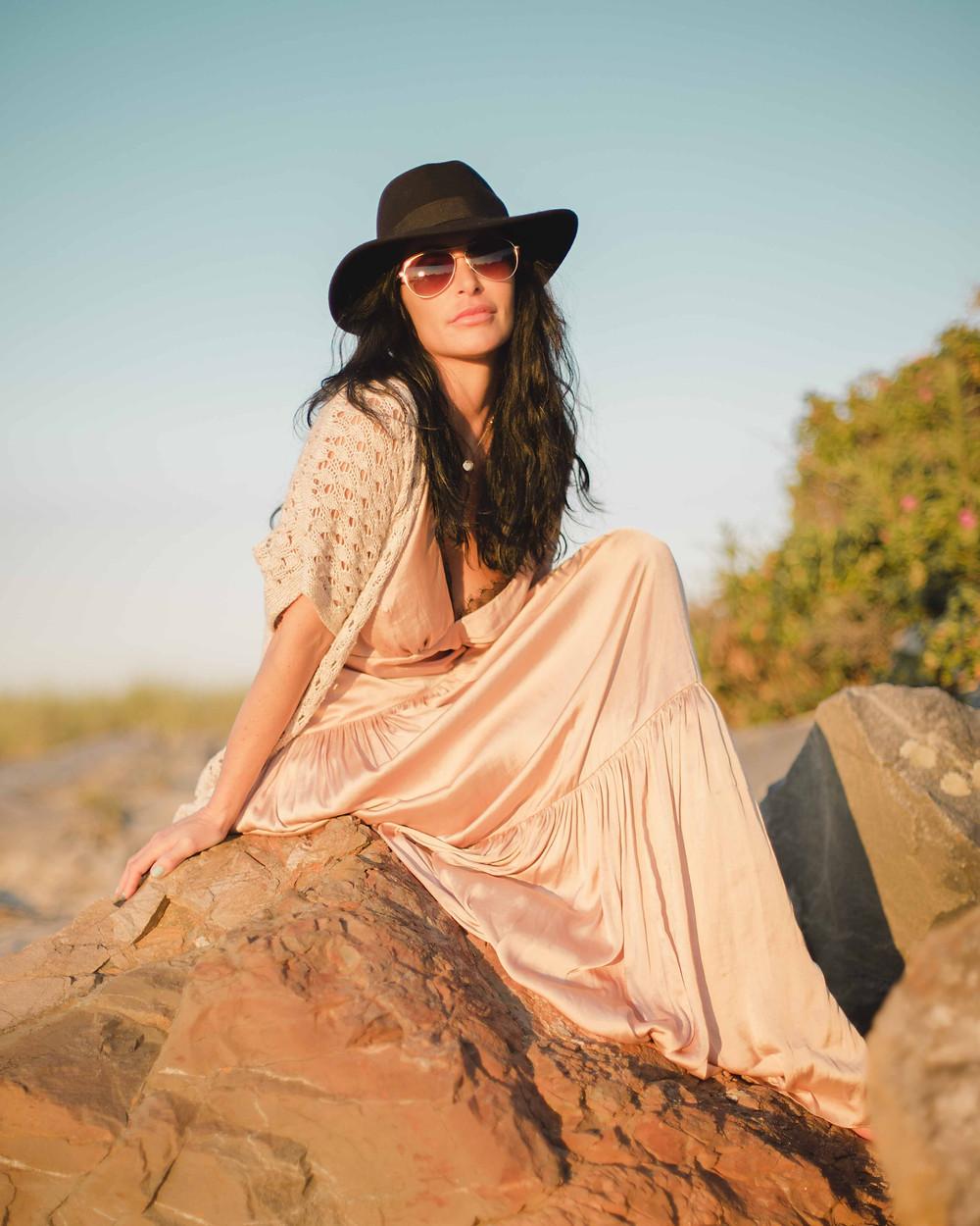 free people fashion shoot direct sunlight