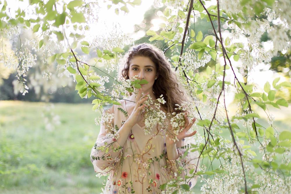 floral fashion photoshoot