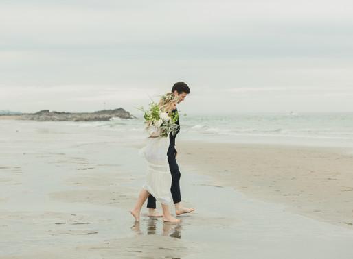 Bohemian Styled Wedding Shoot   Seabrook Beach, NH