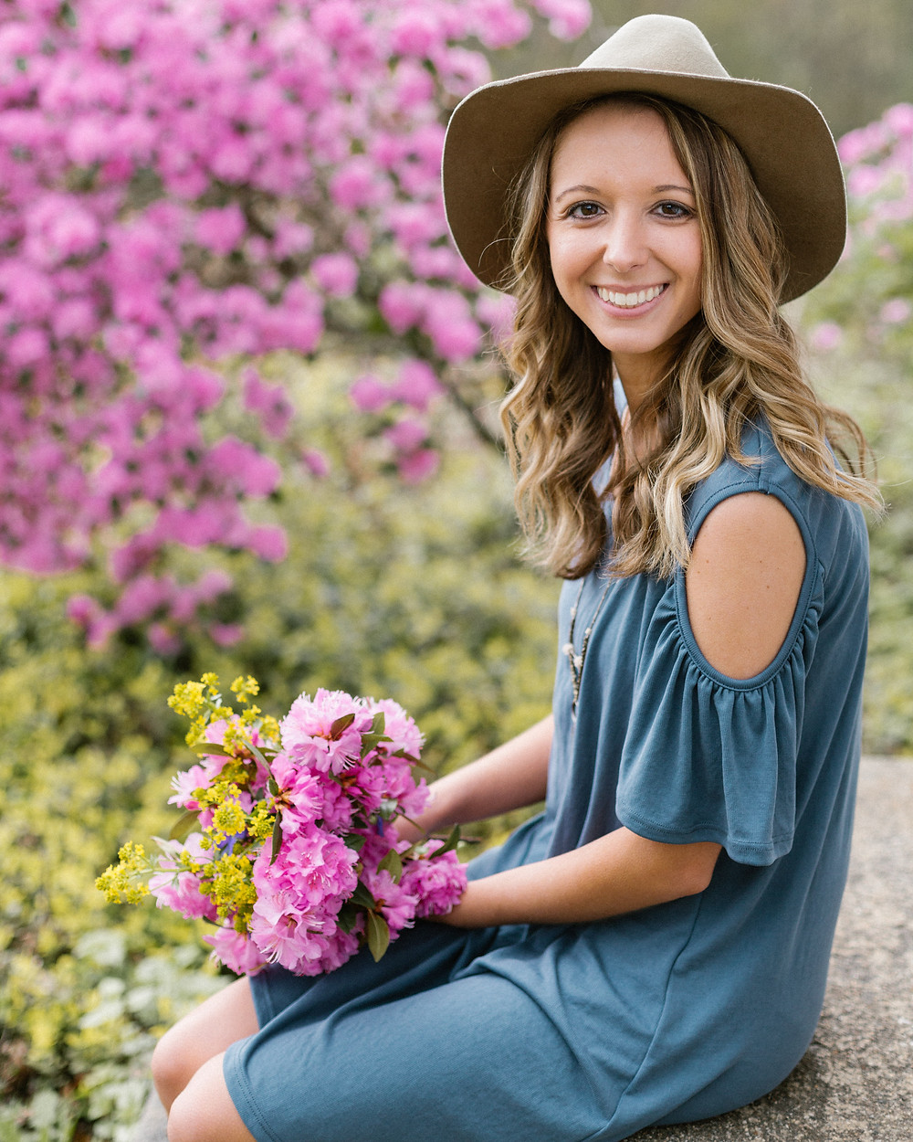 floral portrait
