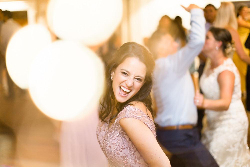 wedding dancing fairy lights