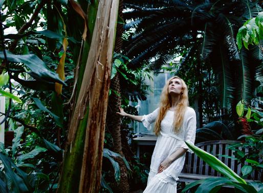 Smith College Botanic Garden Fashion Photoshoot