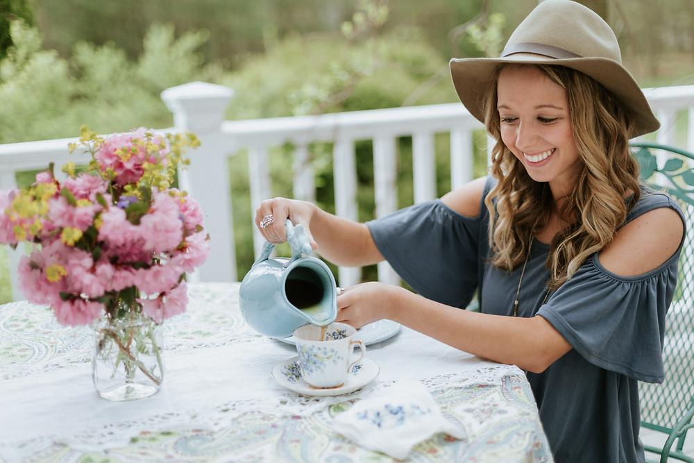 tea party photoshoot
