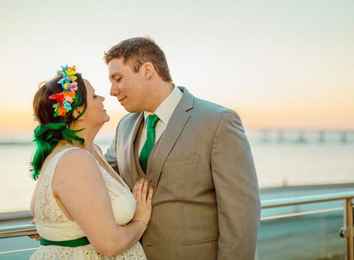 Kelsey & Chris' Rainbow Wedding at Gurney's Resort Newport, RI