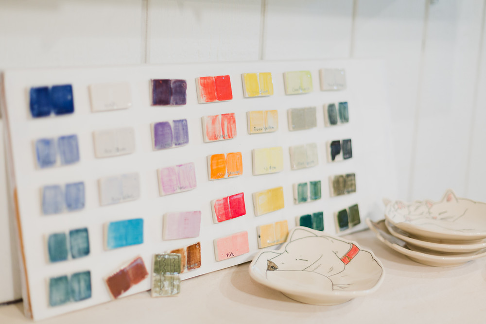 pottery glaze swatches