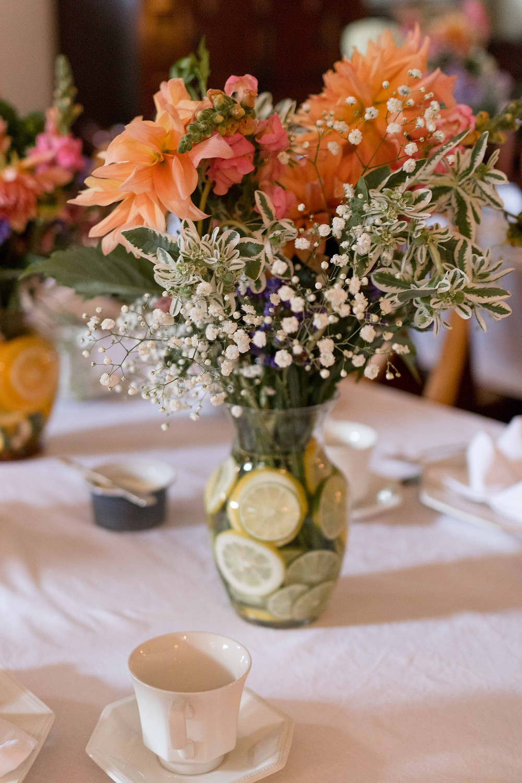 lemon flower centerpiece