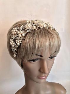 X Large Pearl Bridal Head Piece