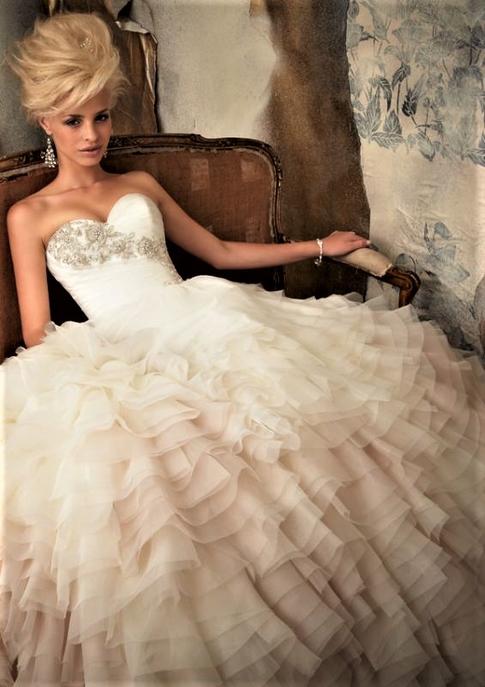 Ombre wedding dresses