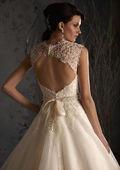 Key hole back wedding dresses