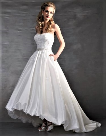 cheap high-lo wedding dress