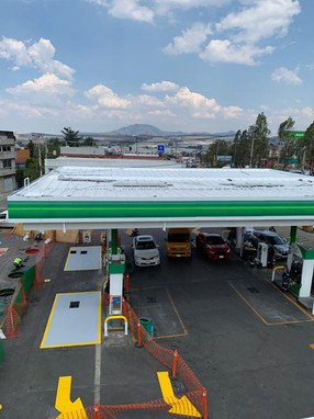 Techo gasolinera impermeabilizado Singo