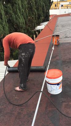 Trabajo de impermeabilización Singo
