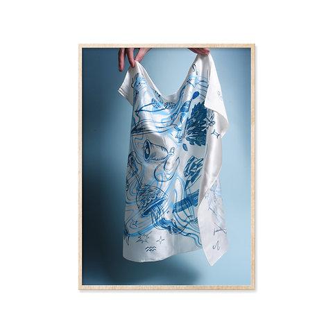 Blue Smoke Tarot / Altar Cloth by Melissa