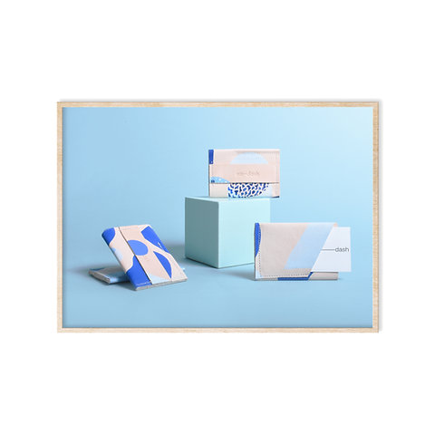 Blue Sky Hand Painted Leather Wallets by Em-Dash