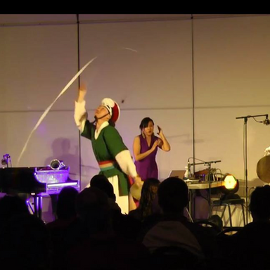 collaboration with Korean dance and drumming artist Vong Pak.