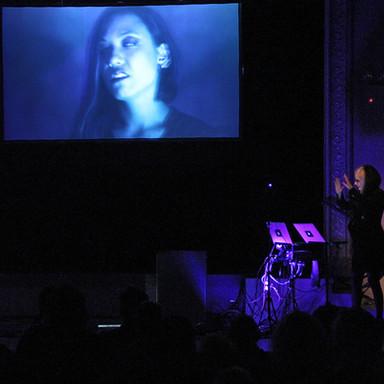 Lucid Possession, a multi-screen interactive film performance by robotic cinema artist Toni Dove