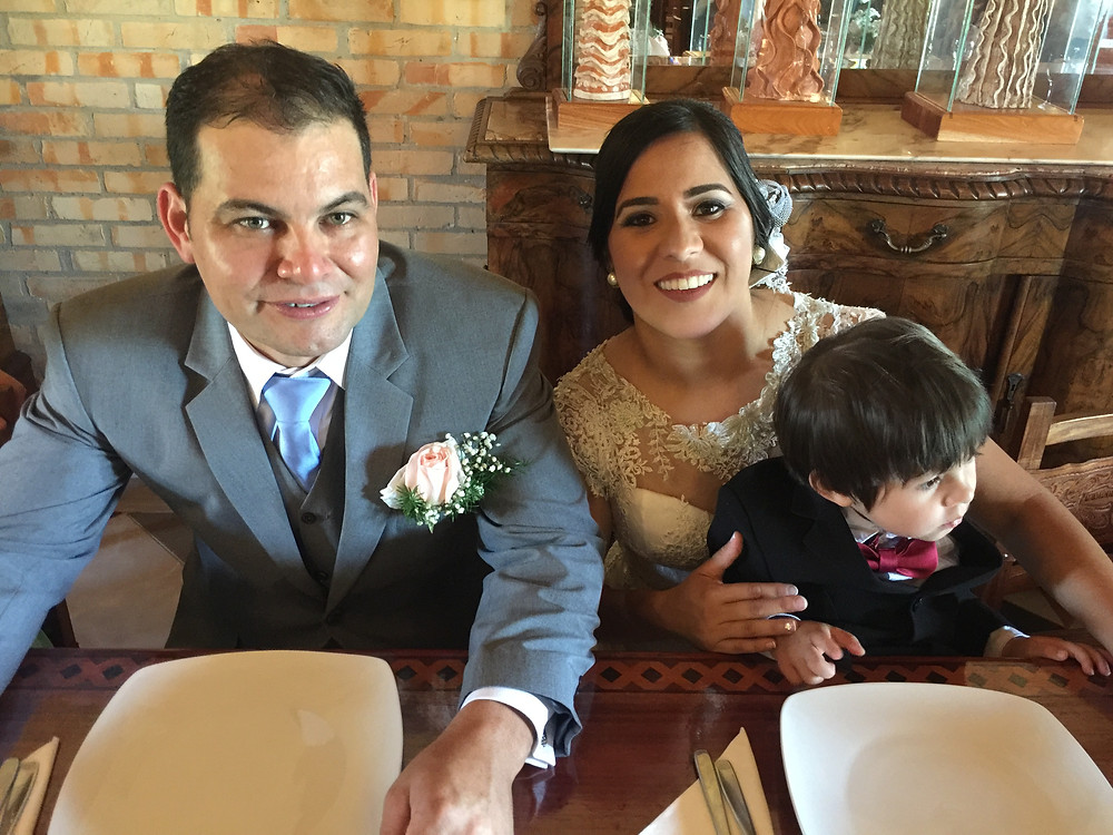 Lider on his wedding day with my sister-in-law, Ursulina, and their handsome son, Sebastian