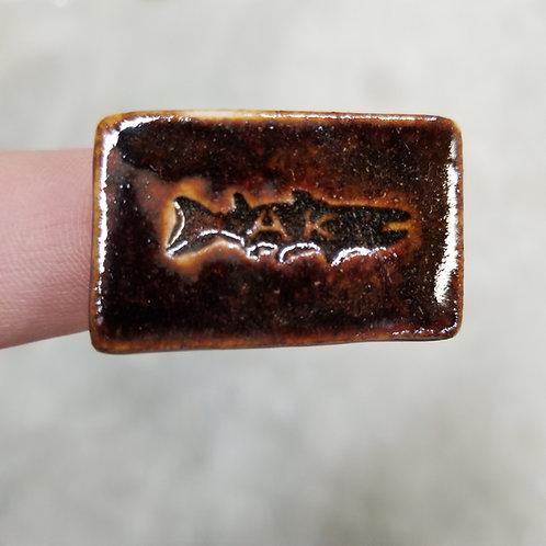 Tenmoku AK Fish Fridge Magnet
