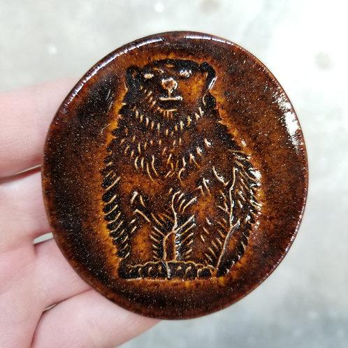 Brown Bear Fridge Magnet