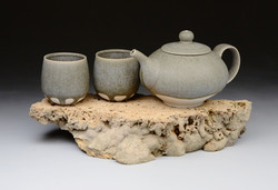 Travertine Teapot Set