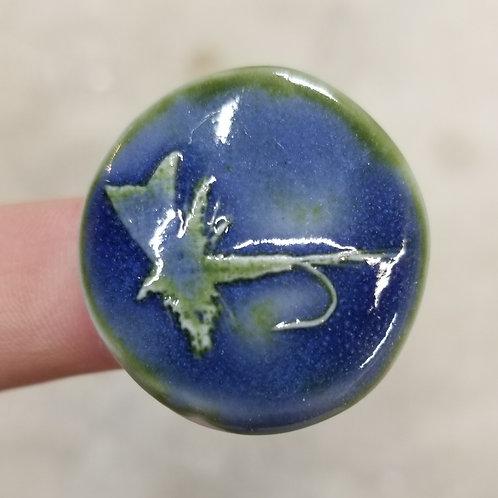 """1.5"""" Sapphire Dry Fly Fridge Magnet"""