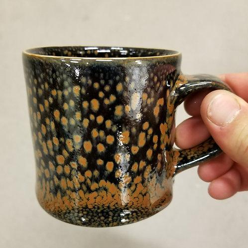 Orange Lava Spot Mug