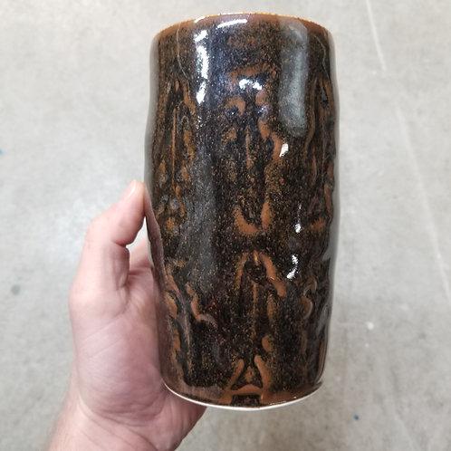 Stamped Fish Brush Holder/Vase