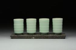 Aqua Cups, Cast Aggregate Slab