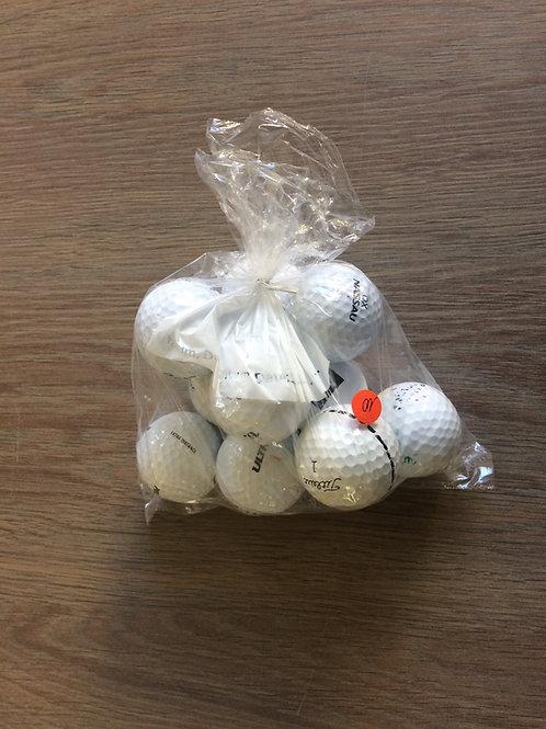 10 tweedehands golfballen