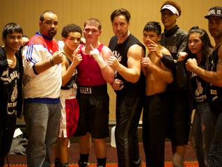 "City Athletic Boxing Amateur Team at ""All Comers"" boxing show at the Santa Fe casino"