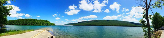 Panoramic view of the lake