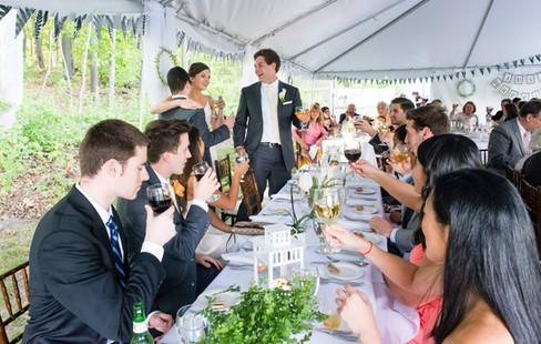 A toast to the newlyweds.
