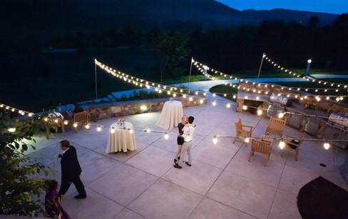 Evening wedding fun