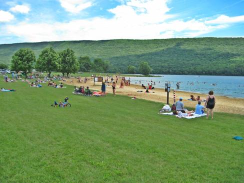 Beach at the park