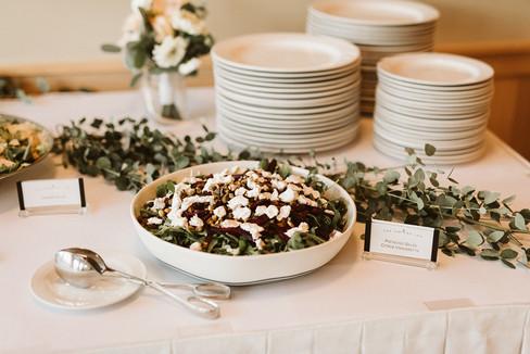Reception food display