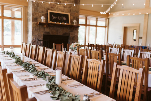 The great room with wedding seating