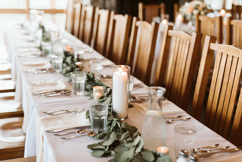 Long view of wedding table