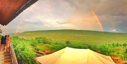 Double Rainbow over the lake