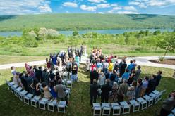 Wedding overlooking the lake