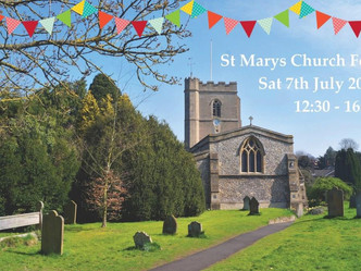 We are looking forward to seeing you at the St Marys Church Fete from 12:30 – 16:00 on Saturday 7th