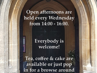 Join us on Wednesdays for our Open Church Afternoons