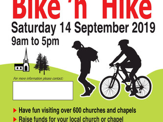 Bike 'n Hike - sponsor our Church Warden Evelyn to help raise funds for St Mary's!