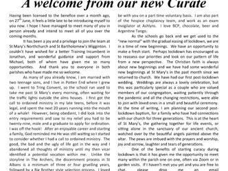 September 2020 Parish Newsletter