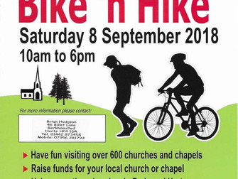Help us to raise money for the Historic Churches Trust at the 2018 Sponsored Bike 'n Hike!