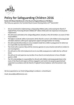 St Mary's Northchurch Safeguarding Polic