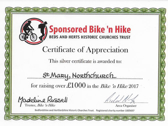 Beds and Herts Bike 'n Hike Awards for 2017