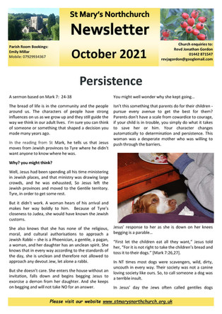 October 2021 Parish Newsletter